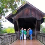 Wooden Covered Bridge near The Boathouse