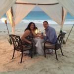 special private dining on the beach