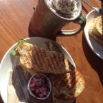 Chicken & Brie with a Mocha = The perfect local lunch!