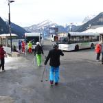 Reprise du bus à Chatel après le restaurant