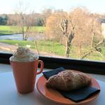Hot Chocolate & Almond Croissant