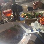 Great lunch in sunny day