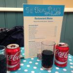 Menu and our drinks