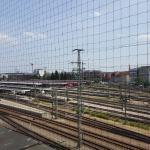 Blick auf die Bahngleise