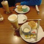 Scones and latte!!