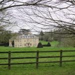 A view looking back to the hotel from the avenue of Lime trees
