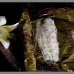 Menu del Chef Febrero 2016. Pescado en hoja de banano