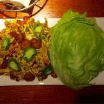 Lettuce wraps Surf and turf