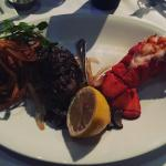 Lobster and steak were cooked to perfection