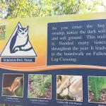 Screech Owl Trail sign