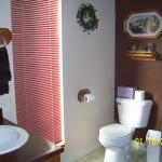 Brown room bathroom