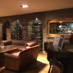 The bar: so cosy