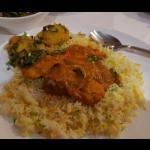 Chicken tikka jalfrezi and bombay