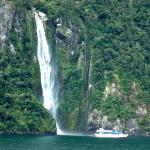 Waterfall in Fiordland National Park