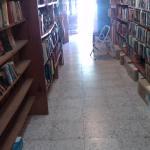 LOOKING DOWN BOOK STACKS