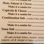 Part of menu