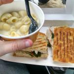 Small panini for $10. Small Mac and cheese for $5.
