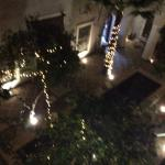 Looking down from our room to the atrium