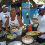 buffet lors de l'excursion Saona premium