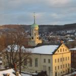 View of Central Moravian Church from Room 732