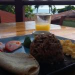 Gallo pinto, desayuno típico en Costa Rica.