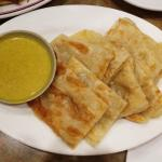 Roti Canai with curry dipping sauce