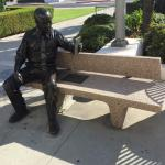 statue in front of Alhambra city hall
