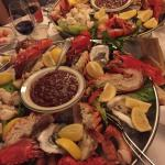 seafood platter. Jumbo shrimp, oysters, crab meat and lobster