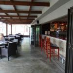 The bar and inside seating area