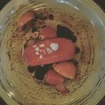 Raw salmon, beetroot, horseradish, and oats. #classy!  Great atmosphere,  great service, great f
