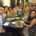 Our party at the Regent Park Hotel's Thai Restaurant