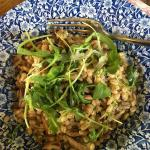 My delicious vegetarian pearl barley, wild mushrooms, rocket and truffle oil