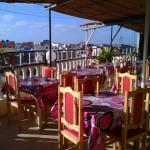 This is the Terrace where breakfast is served..
