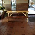 Indoor seating - picnic table