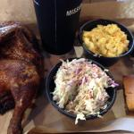 Half Bar-B-Qued Chicken, Cole Slaw & Mac & Cheese w/Drink