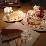 Clockwise fr. top left, Banana Cream Pie, Lemon raspberry, white choc macadamia and salted caram