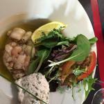 Tartare de St Jacques aux crevettes