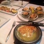 Amazing Appetizers! Oysters Rockefeller, Shrimp Dejonghe,Saganaki!