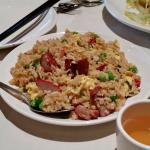 The pork fried rice was a delight and almost a meal in itself.