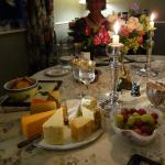 Poppy's assortment of cheeses to complete the dinner