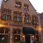 Hôtel Prinsenhof extérieurs à Noël