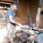 The grower was kind and hardworking, showed us how to roast our own coffee beans!