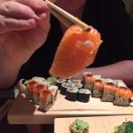 tasteless salmon sashimi.