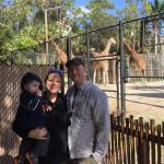 Family and Giraffes