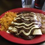 Enchilada (steak) with mole sauce