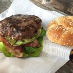 Black&Blue burger was amazing with full flavor from their organic cattle.