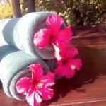 detalle de las toallas