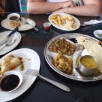 Beef curry and Samosas