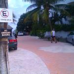 lane to amar inn off main drag puerto morelos direction sea