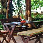 Come to relax in the shade of our trees, for a healthy breakfast and lunch.